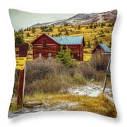 Continental Divide Throw Pillow