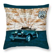 Convertible Vintage Car Throw Pillow