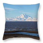 Cook Inlet And The Alaska Range From Ninilchik Throw Pillow