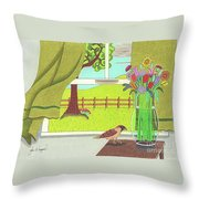 Cool Breeze Throw Pillow by John Wiegand