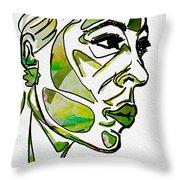 Cool Green Throw Pillow