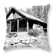 Coolidge Ghost Town Montana Throw Pillow