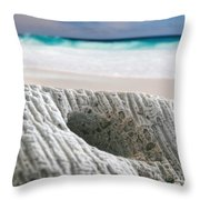 Coral By The Sea Throw Pillow