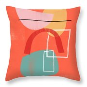 Coral Modern Abstract 2- Art By Linda Woods Throw Pillow