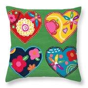 Corazon 1- Art By Linda Woods Throw Pillow