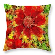 Coreopsis Abstract Throw Pillow