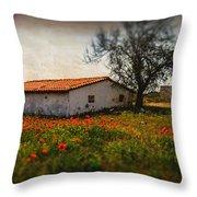 Corn Poppies Throw Pillow by Okan YILMAZ
