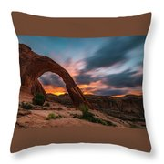 Corona Arch At Sunrise Throw Pillow