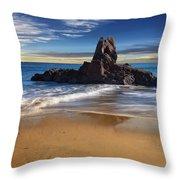 Corona Del Mar Beach Throw Pillow
