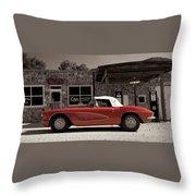 Corvette Cafe - C1 Throw Pillow