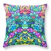 Cosmic Lock Throw Pillow