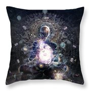 Cosmic Ritual Throw Pillow