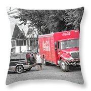 Costa Rica Soda Truck Throw Pillow