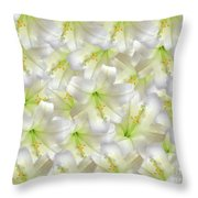 Cotton Seed Lilies Throw Pillow