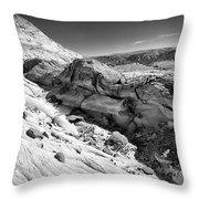 Cottonwood Creek Strange Rocks 7 Bw Throw Pillow
