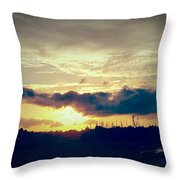 Country Sunset In Pavo Throw Pillow
