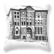 Courthouse Helena Montana Throw Pillow