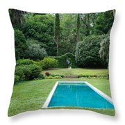 Courtyard Entrance Throw Pillow