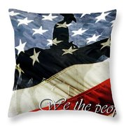 Cowboy Patriot Throw Pillow