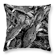 Crabs In The Basket Throw Pillow