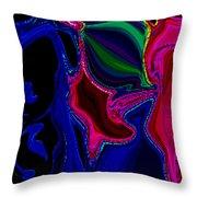 Crazy Abstract Amoeba Throw Pillow