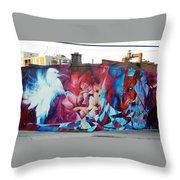 Creative Splash Of Artwork Throw Pillow