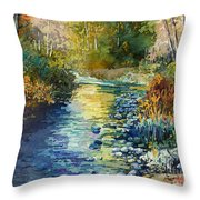 Creekside Tranquility Throw Pillow
