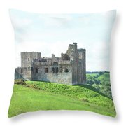 Crighton Castle In Summer Throw Pillow