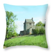 Crighton Church And Track Throw Pillow