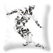 Cristiano Ronaldo Juventus Pixel Art 1 Throw Pillow