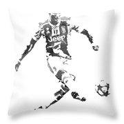 Cristiano Ronaldo Juventus Water Color Pixel Art 1 Throw Pillow