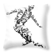Cristiano Ronaldo Juventus Water Color Pixel Art 3 Throw Pillow