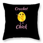 Crochet Chick 2 Throw Pillow