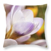 Crocus Throw Pillow by Whitney Goodey