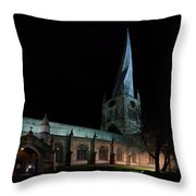 Crooked Spire 3 Throw Pillow