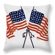 Crossed Civil War Union Flags 1861 - T-shirt Throw Pillow