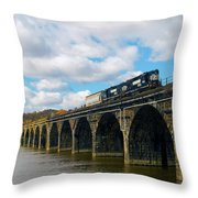 Crossing The Rockville Throw Pillow