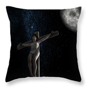 Crucifiction Surreal Throw Pillow