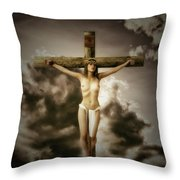 Crucifix And Hope Throw Pillow