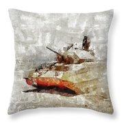 Crusader Tank, World War Two Throw Pillow