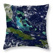 Cuba And Florida Throw Pillow