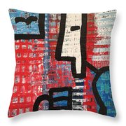 Cup Of Joe By The Sea Throw Pillow