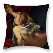 Cupid, 1620 Throw Pillow