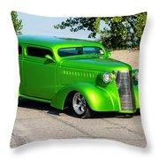 Custom 1938 Chevrolet 2 Door Coach  Throw Pillow