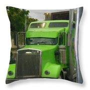 Custom Green Boca Throw Pillow