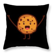 Cute Cookie For Cooke Lovers Men Women And Kids Throw Pillow