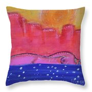 Civilizing Throw Pillow by Kim Nelson