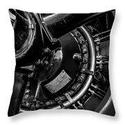 Cyclone Aircraft Engine Throw Pillow by Bob Orsillo