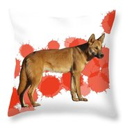 D Is For Dingo Throw Pillow