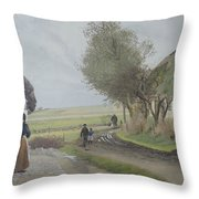 Dad Comes Home Throw Pillow